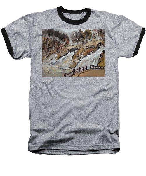 Watching The Cascades De Coo Baseball T-Shirt