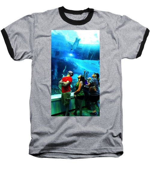 Watching The Penguins Fly Baseball T-Shirt