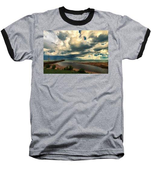Watching The Storm On Lake Erie Baseball T-Shirt