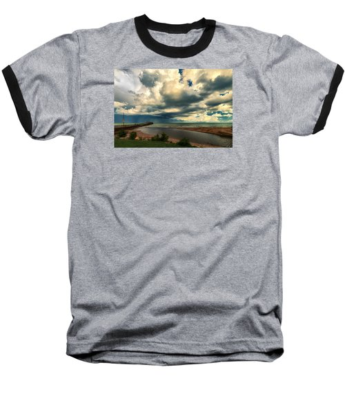 Watching The Storm On Lake Erie Baseball T-Shirt