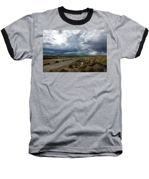 Baseball T-Shirt featuring the photograph Watching The Storms Roll By by Margaret Pitcher