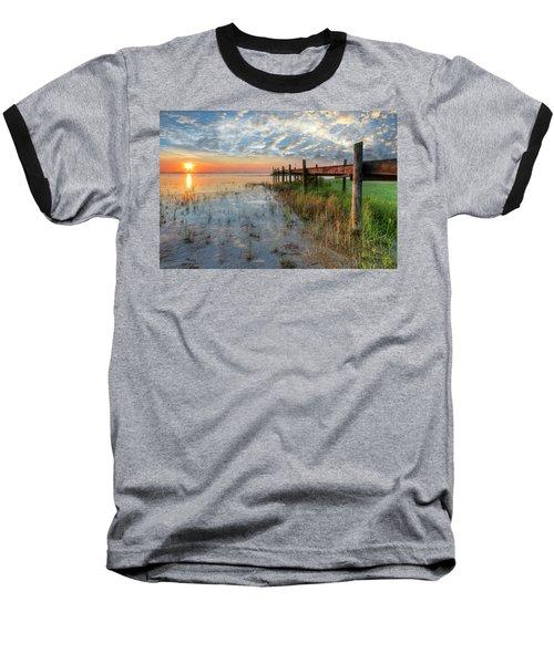 Watching The Sun Rise Baseball T-Shirt