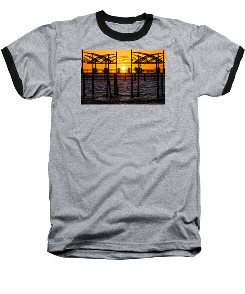 Watching The Sunset Baseball T-Shirt by Ed Clark