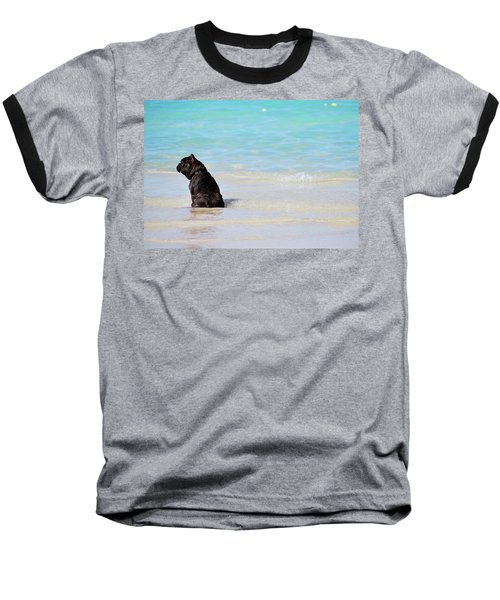 Watching The Waves Baseball T-Shirt
