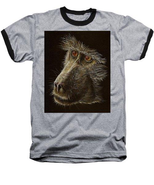 Baseball T-Shirt featuring the drawing Watching You by Heidi Kriel