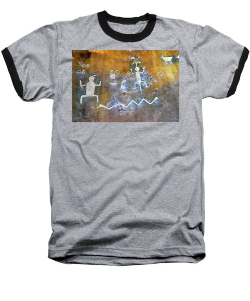 Watchtower Rock Art  Baseball T-Shirt