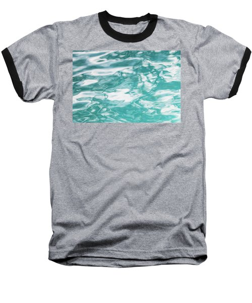 Water Abstract 001 Baseball T-Shirt by Rich Franco