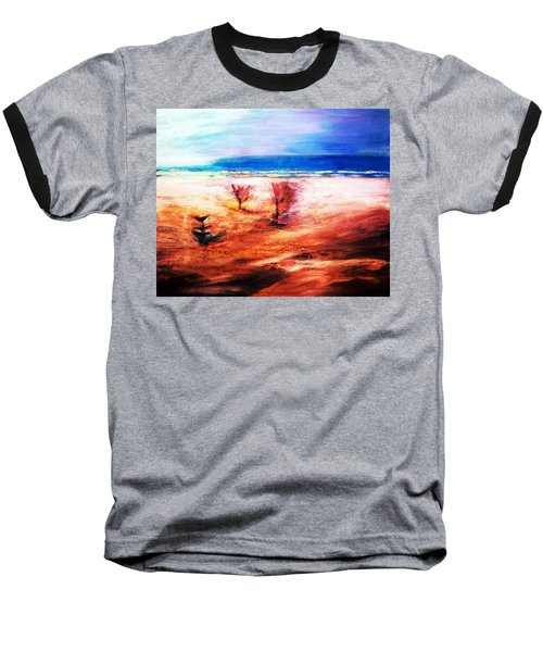 Baseball T-Shirt featuring the painting Water And Earth by Winsome Gunning