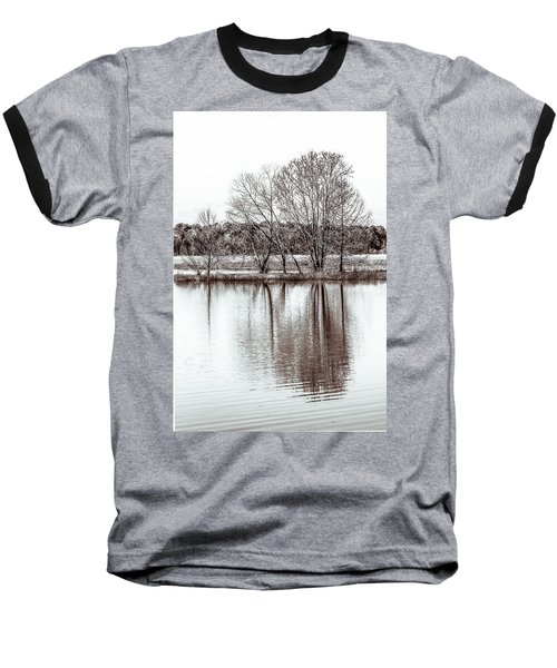 Baseball T-Shirt featuring the photograph Water And Trees by Wade Brooks