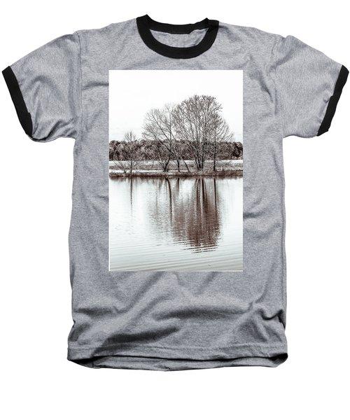 Water And Trees Baseball T-Shirt by Wade Brooks