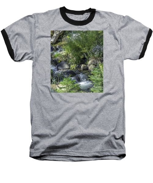 Baseball T-Shirt featuring the photograph Water And Wildflowers by Nancy Marie Ricketts