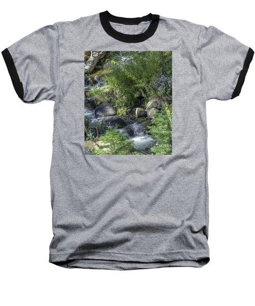 Water And Wildflowers Baseball T-Shirt