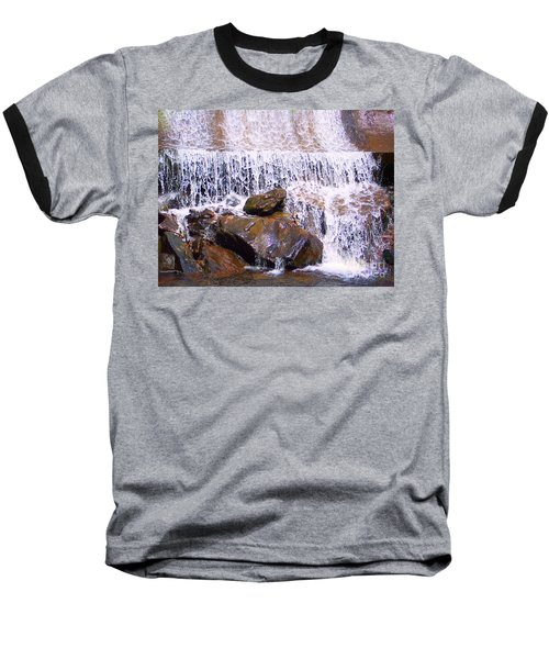 Baseball T-Shirt featuring the photograph Water Cascade by Roberta Byram