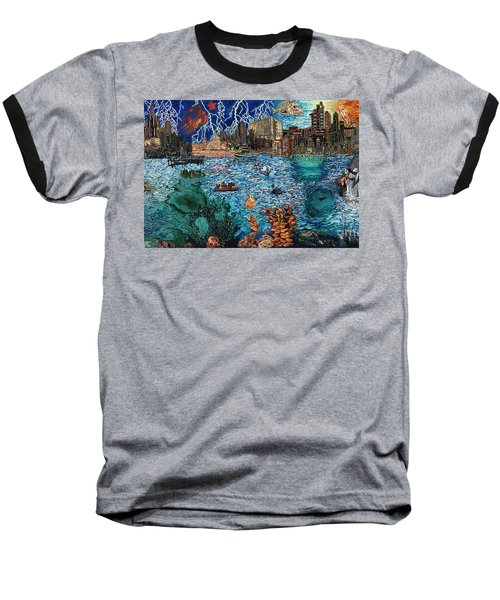 Water City Baseball T-Shirt by Emily McLaughlin