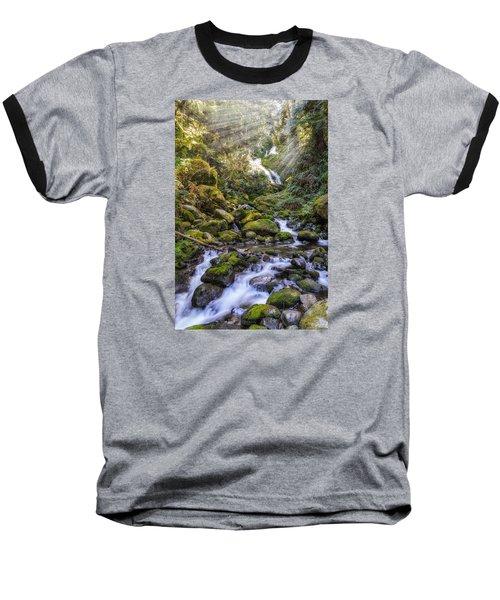 Water Dance Baseball T-Shirt by James Heckt