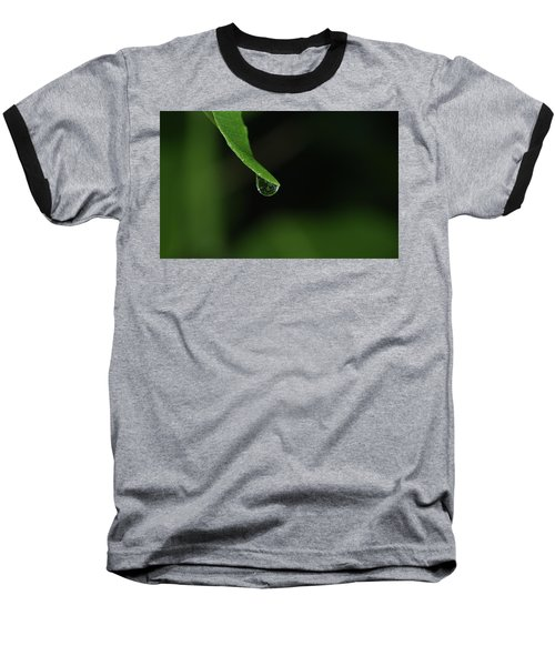 Water Drop Baseball T-Shirt by Richard Rizzo