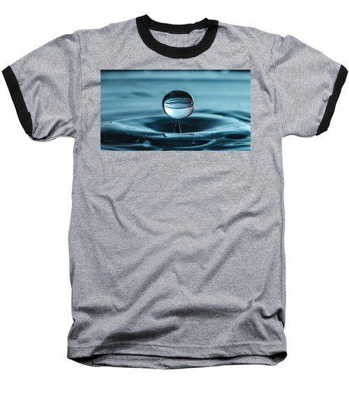Water Drop With Milk Baseball T-Shirt by Bruce Pritchett