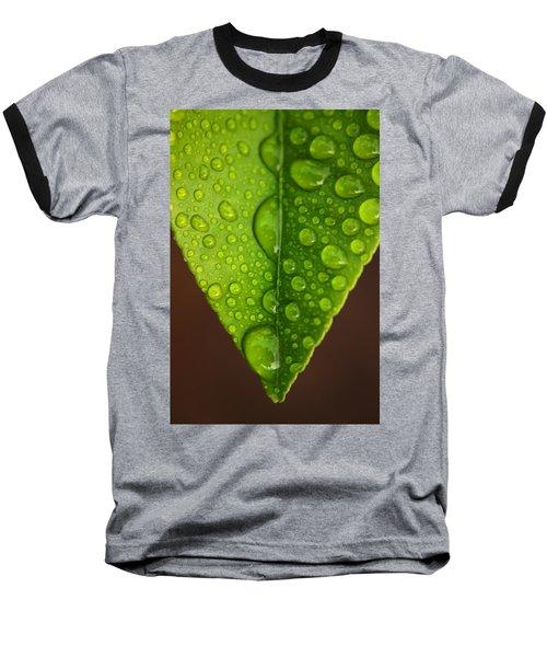 Water Droplets On Lemon Leaf Baseball T-Shirt