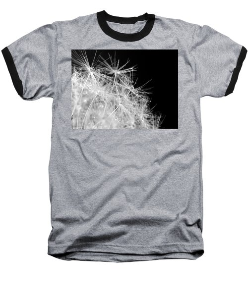Water Drops On Dandelion Baseball T-Shirt