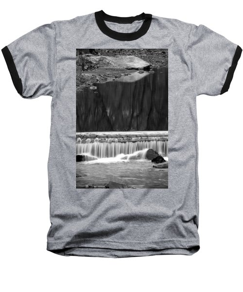 Water Fall And Reflexions Baseball T-Shirt