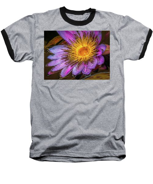 Water Flower Baseball T-Shirt