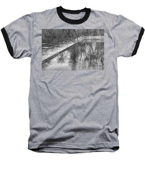 Water Flowing Over Dam In Wayne New Jersey Baseball T-Shirt