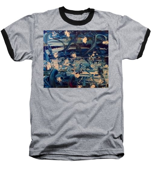 Baseball T-Shirt featuring the painting Water Garden Beyond Flight by Kicking Bear Productions