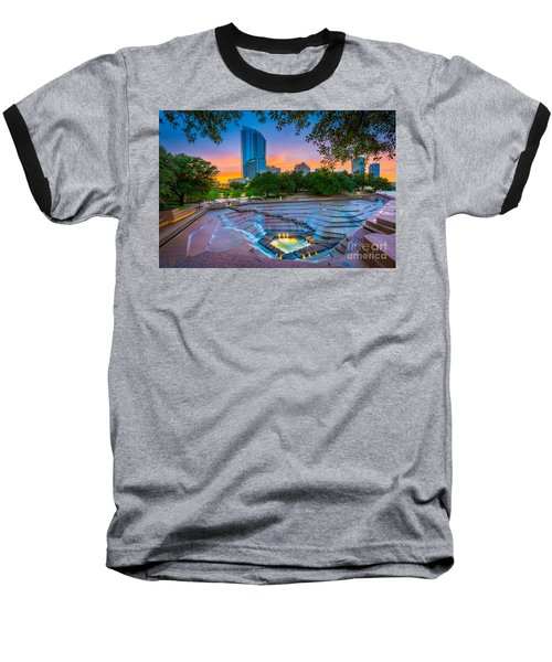 Water Gardens Sunset Baseball T-Shirt