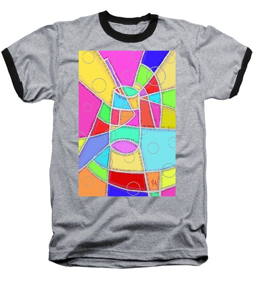 Water Glass Of Light And Color Baseball T-Shirt by Jeremy Aiyadurai