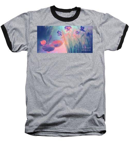 Water Iris Baseball T-Shirt by Holly Martinson
