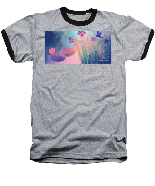 Water Iris Baseball T-Shirt