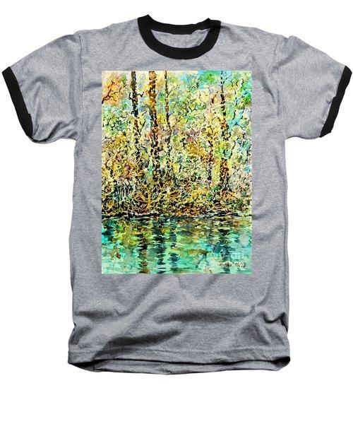 Water Kissing Land Baseball T-Shirt
