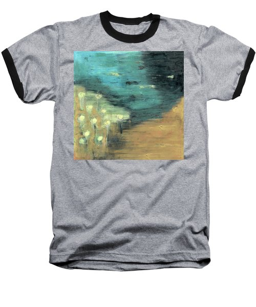 Baseball T-Shirt featuring the painting Water Lilies At The Pond by Michal Mitak Mahgerefteh