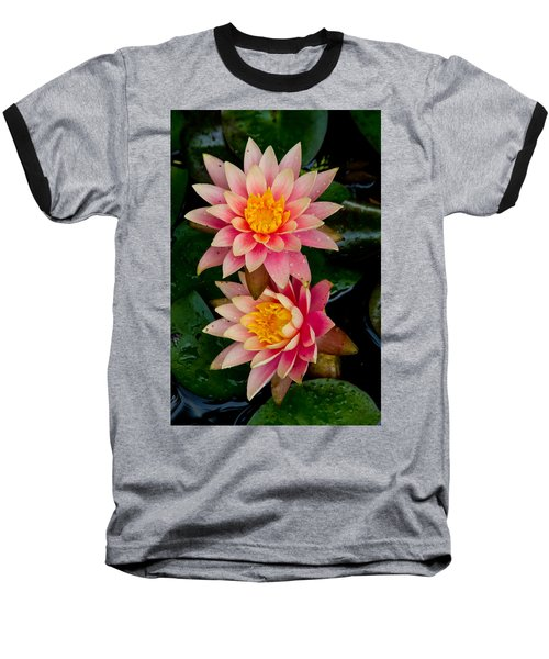 Water Lilies Baseball T-Shirt by Brent L Ander
