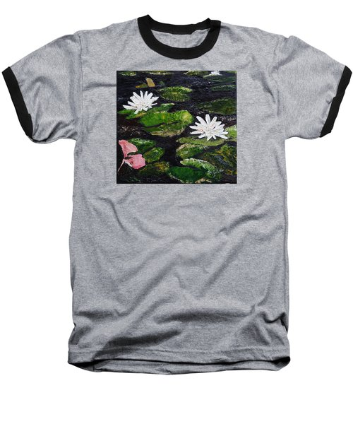 Water Lilies I Baseball T-Shirt