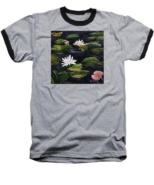 Water Lilies IIi Baseball T-Shirt by Marilyn Zalatan