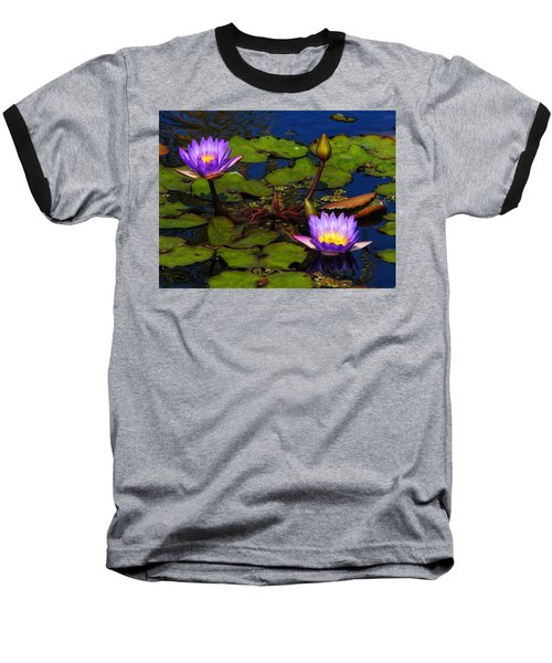 Water Lilies Iv Baseball T-Shirt