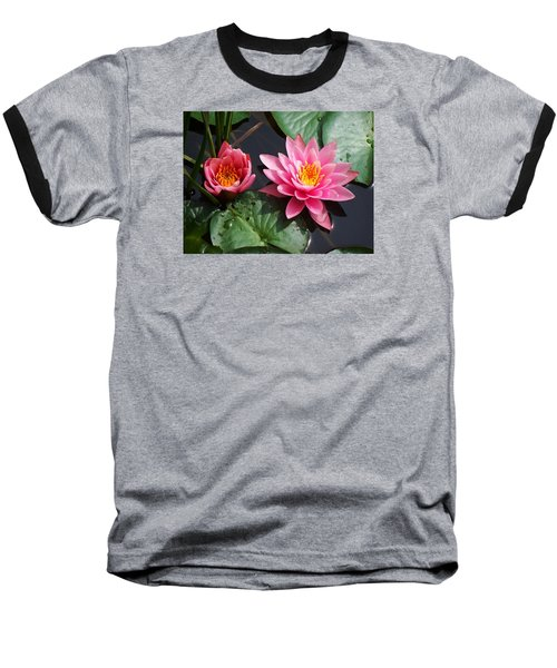 Baseball T-Shirt featuring the photograph Water Lilies by Joy Nichols
