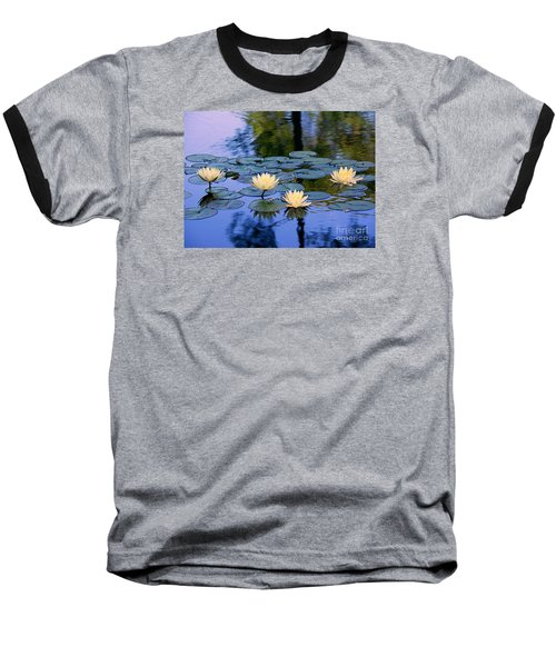 Water Lilies Baseball T-Shirt by Lisa L Silva