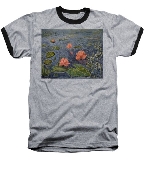 Water Lilies Lounge Baseball T-Shirt by Felicia Tica