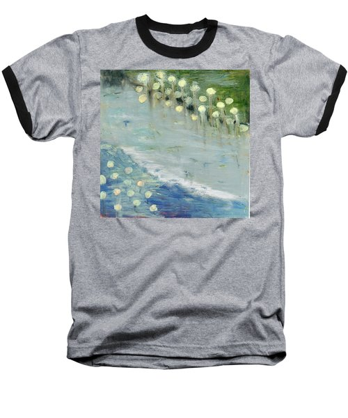 Baseball T-Shirt featuring the painting Water Lilies by Michal Mitak Mahgerefteh