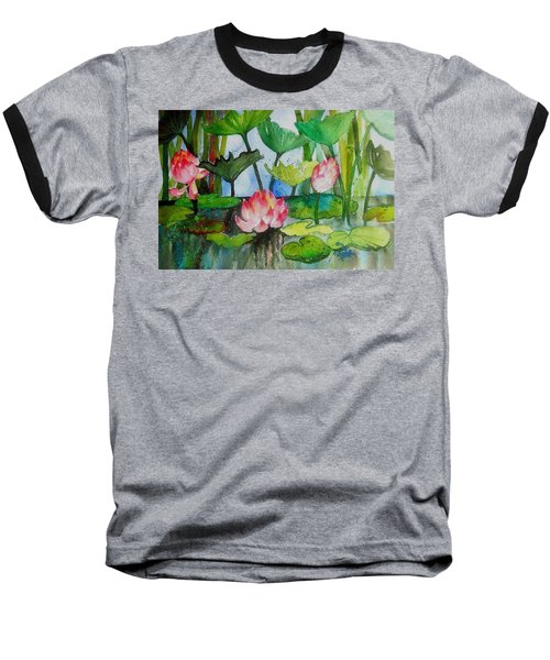 Water Lillies Two Baseball T-Shirt