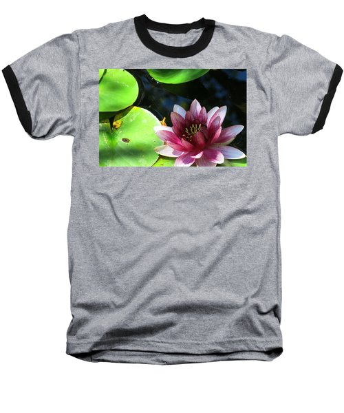 Water Lilly Baseball T-Shirt by Betty Buller Whitehead