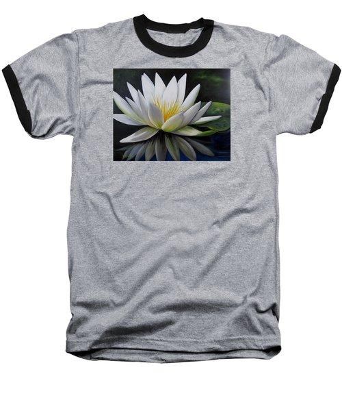 Water Lilly  Baseball T-Shirt by Katia Aho