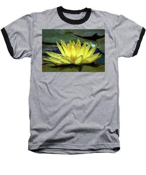 Water Lily Baseball T-Shirt