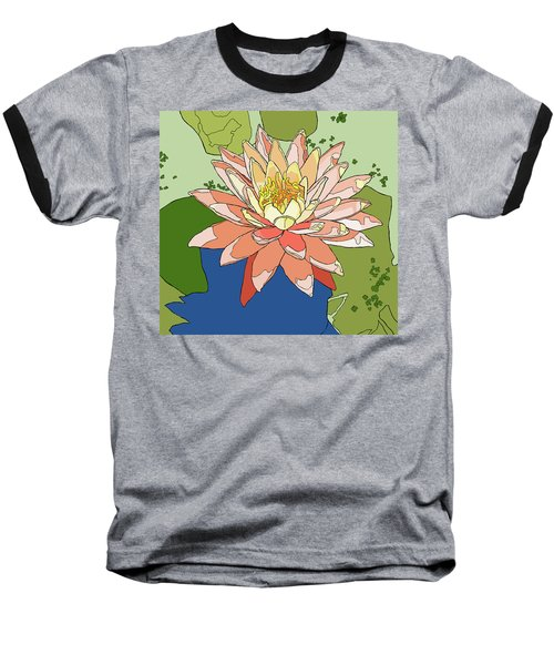 Water Lily And Duck Weed Baseball T-Shirt by Jamie Downs