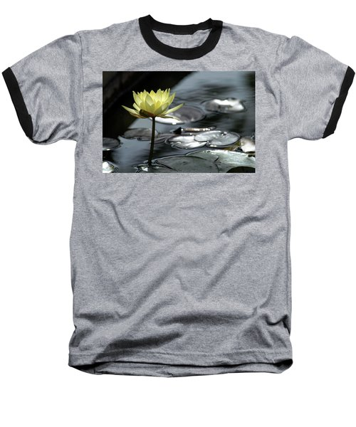 Water Lily And Silver Leaves Baseball T-Shirt
