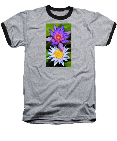 Baseball T-Shirt featuring the photograph Water Lily Blossoms by Kerri Ligatich