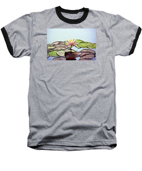 Water Lily Dream Baseball T-Shirt by Lisa L Silva