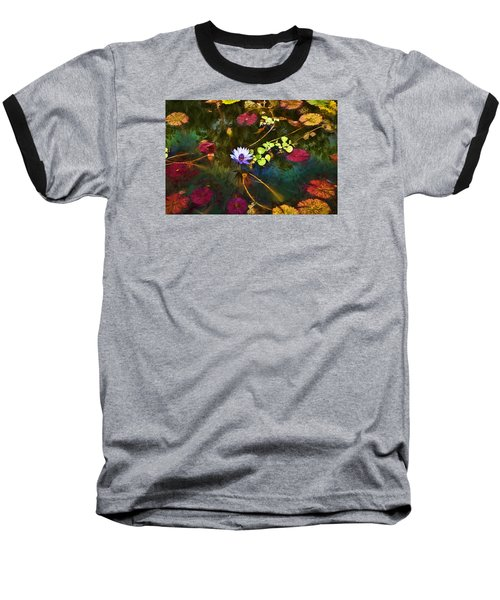 Water Lily Dreams Baseball T-Shirt by Terry Cork